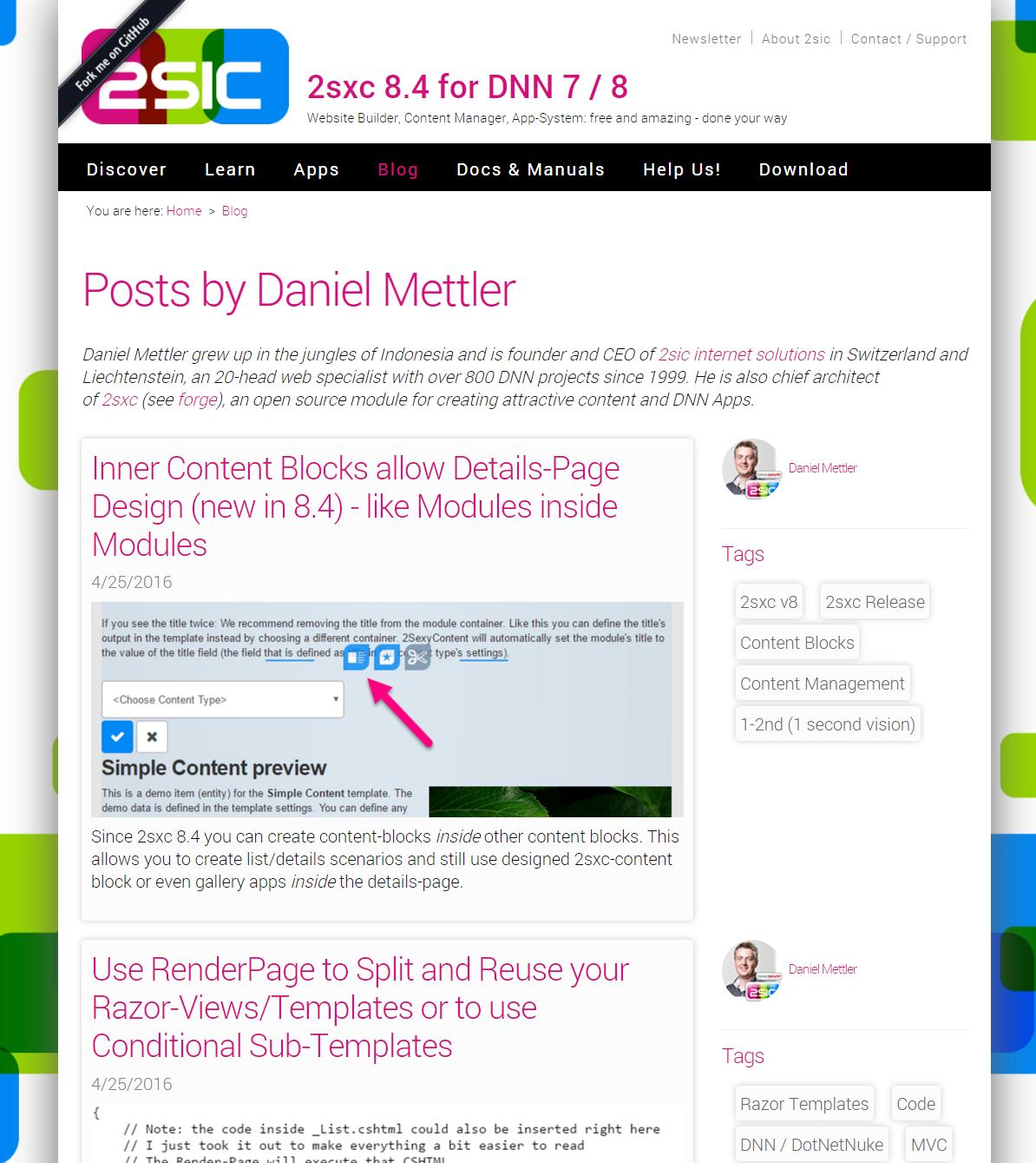 DNN Blog App - App for DNN (DotNetNuke) and 2sxc