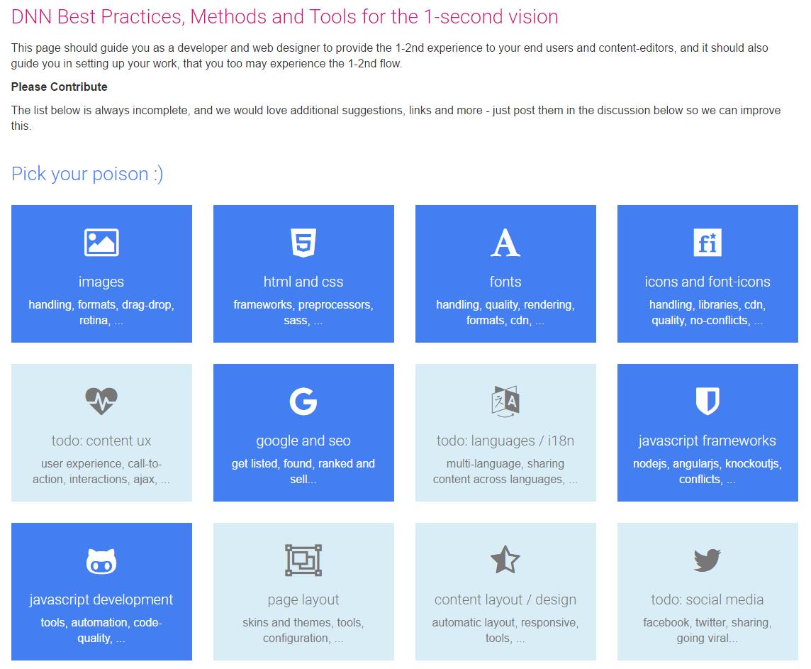 Tiles with Icons for bootstrap - App for DNN (DotNetNuke