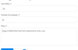 Configuring CDN based standard font-awesome icon-font library