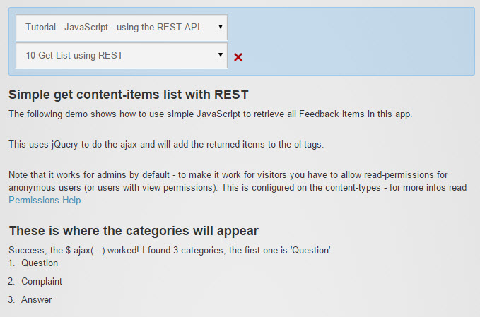 Tutorial - JavaScript - REST API using jQuery and AngularJS - App