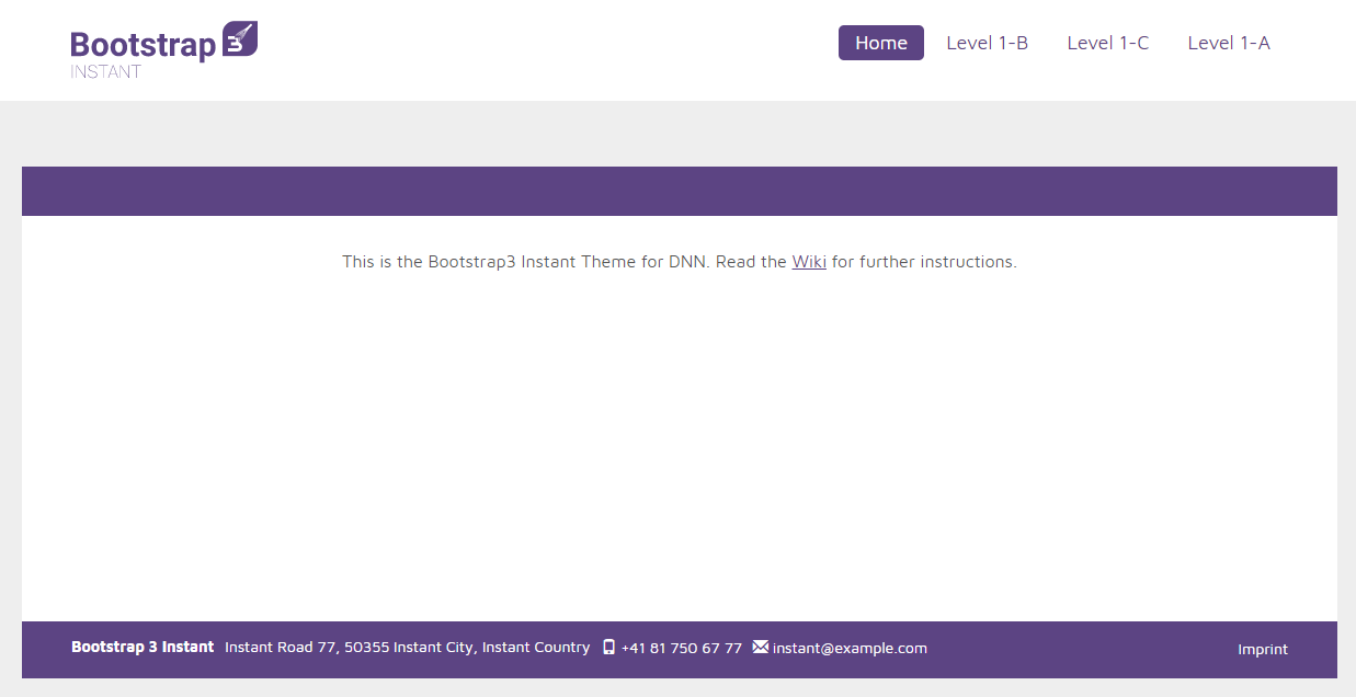 New: DNN Instant Theme / Skin with Bootstrap 3 & SASS