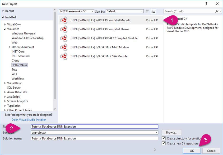 Custom DataSource - Creating a DNN Extension