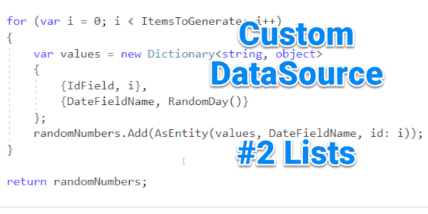 Tutorial: Custom DataSources for EAV / 2sxc #2 Lists