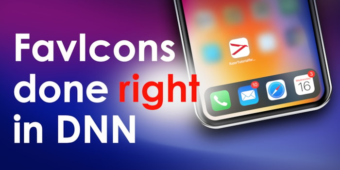 Icons and FavIcons - done right in DNN