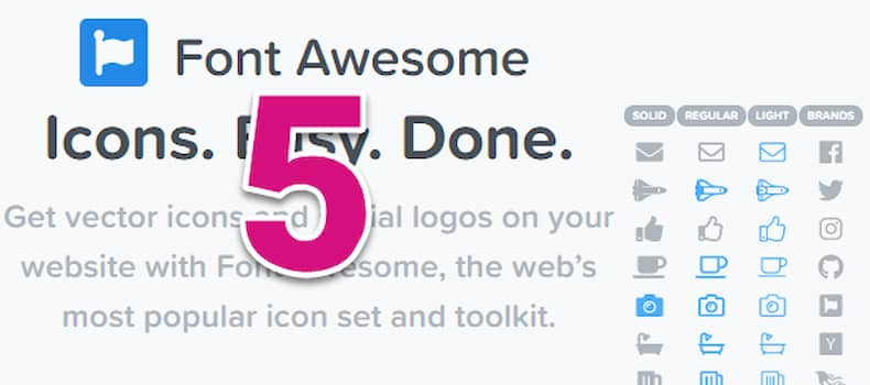 Welcome Font Awesome 5 - The Free Font that made 1 Mln on Kickstarter