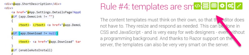 Rapid In-Page Development to change Templates, Content-Type and more (200)