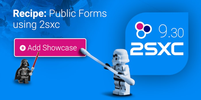 Recipe: Create Public Forms with 2sxc