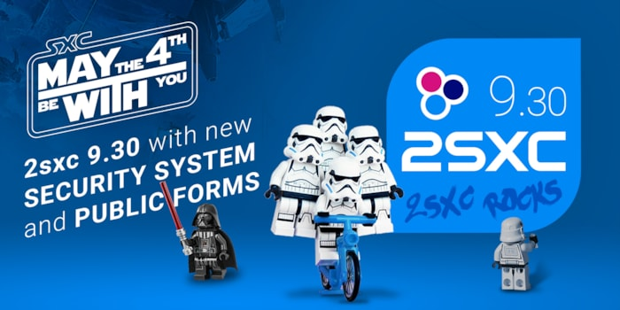 May the 4th - 2sxc for public forms and file upload