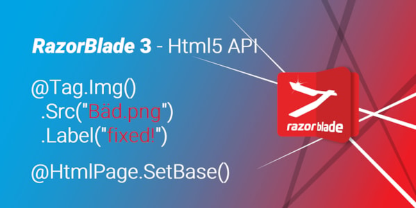 RazorBlade 3 released with full Html5 Tag API