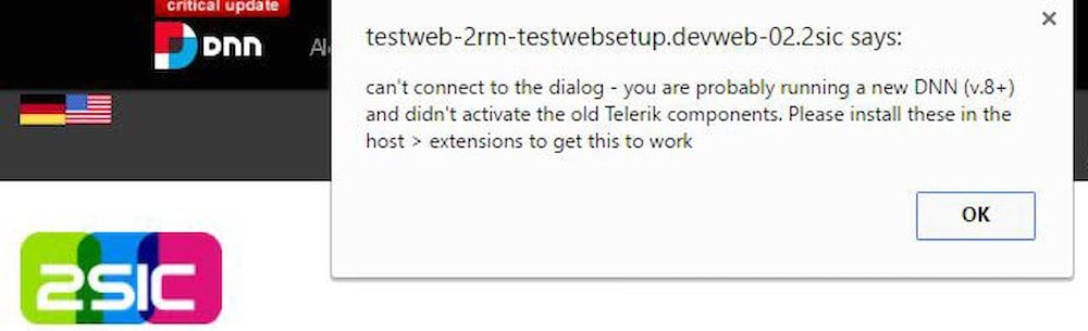 Enable Telerik Components in DNN / DotNetNuke 8 and 9