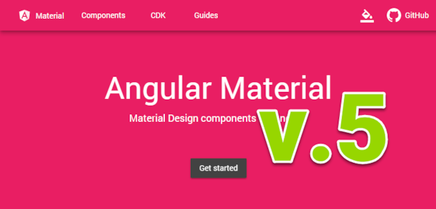 Angular Material for Angular 5 finally released!