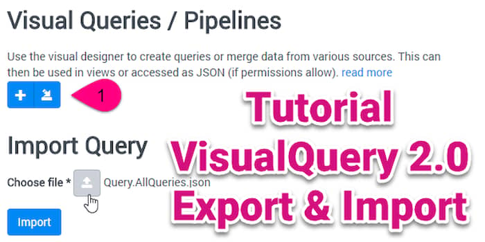 Tutorial VisualQuery 2.0 Export and Import (2sxc 9.11)