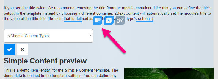 Inner Content Blocks allow Details-Page Design (new in 8.4) - like Modules inside Modules