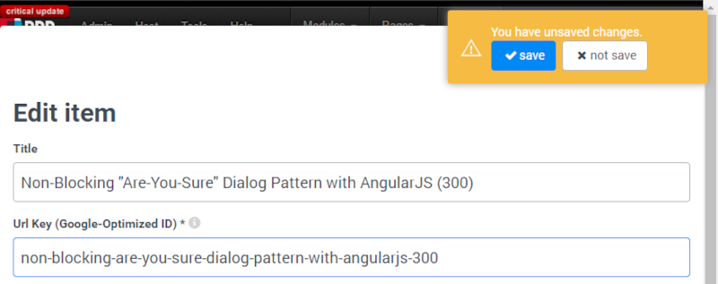 "Non-Blocking ""Are-You-Sure"" Dialog Pattern with AngularJS (300)"
