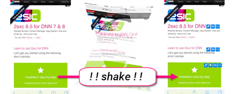 Introducing Shake: Mobile Content Editing just turned Sexy