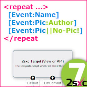 New in 2sxc 7: #2 Using Visual Query with Token Templates