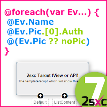 New in 2sxc 7: #3 Using Visual Query with Razor Views