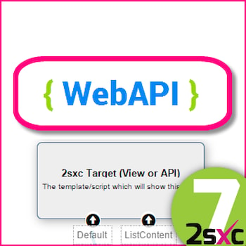 New in 2sxc 7: #4 Using Visual Query with WebAPI (Updated)