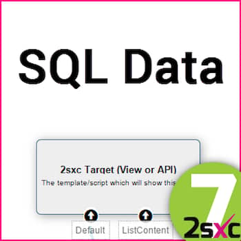 New in 2sxc 7: #6 DNN SQL DataSource