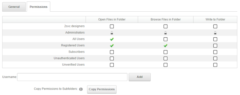 Quick Tip - Setting File / Folder Permissions in DNN / 2sxc